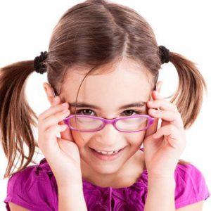 Small Girl wearing purple glasses